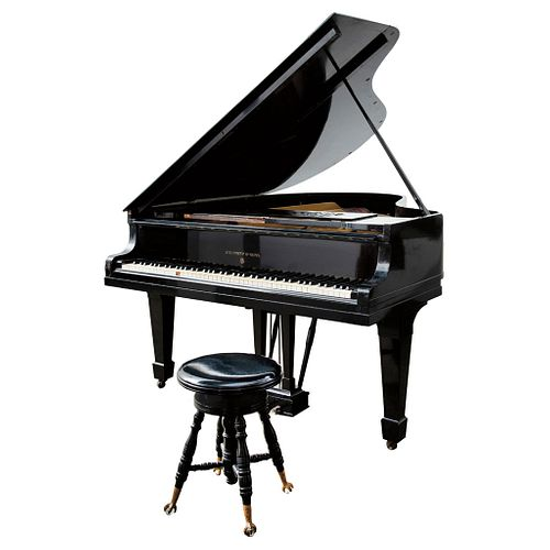 Grand Quarter Piano. United States. Early 20th Century. STEINWAY & SONS. Made in ebonized wood.