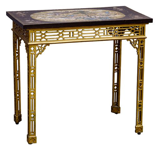 Chinese Chippendale Lacquered Table