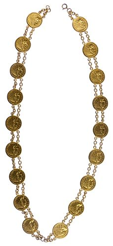 US Indian $2 1/2 Gold Coin Necklace