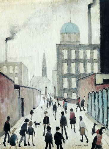 LAURENCE STEPHEN LOWRY (1887-1976), MRS SWINDELLS' PICTURE, signed in penci