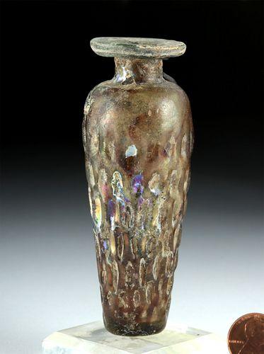 Roman Sidonian Glass Vessel w/ Impressed Design