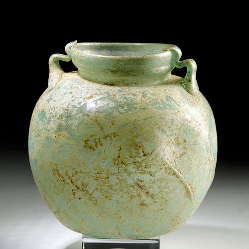 Roman Globular Glass Jar w/ Handles