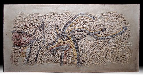 Roman Mosaic of Stag with Long Antlers