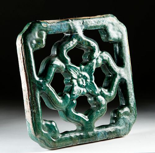 Chinese Ming Dynasty Openwork Tile