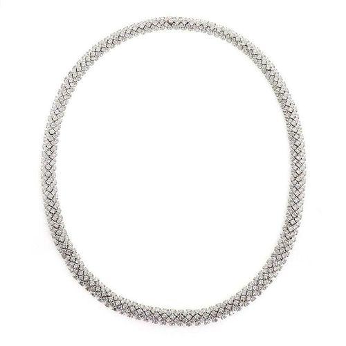 Estate 22ct Diamond and Platinum Eternity Collar