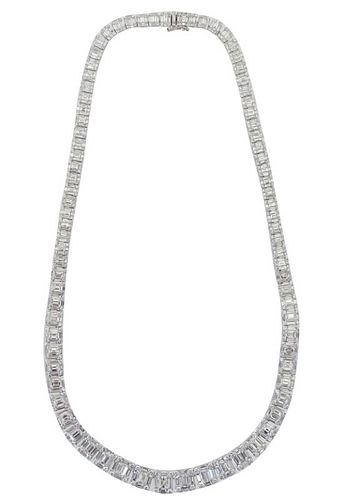18K 20.12ct Diamond Necklace