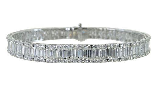18K 3.37ct Diamond and 8.19ct Diamond Bracelet