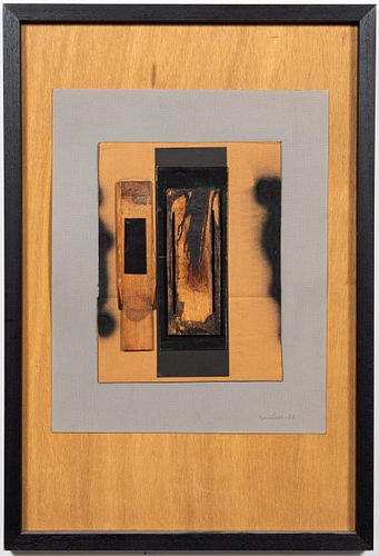 "LOUISE NEVELSON ""UNTITLED"" MIXED MEDIA, 1982"