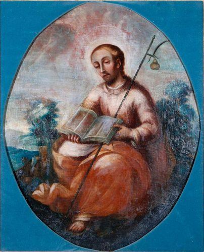 An 18th century Portrait of a Saint.