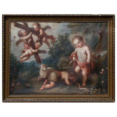 An 18th century Biblical painting.