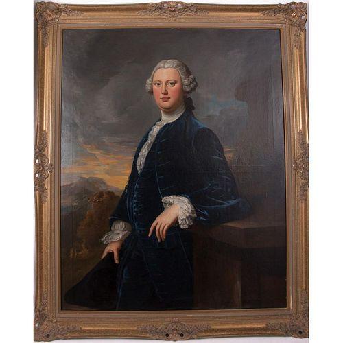 Philippe MERCIER (Attrib.) (1689-1760) Portrait of C. W. Bampfylde.
