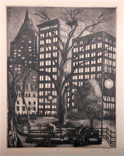 Ernest Feine (1898 - 1965). Peggy Bacon (1895 - 1987).