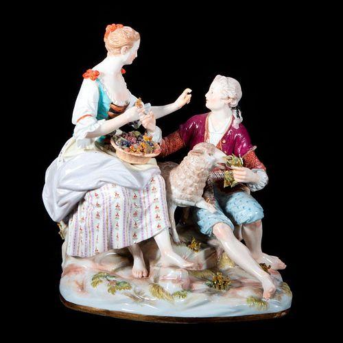 Meissen Figural Group