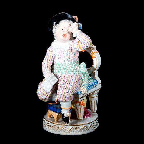 German Meissen Figure of Girls sitting on a Chair.