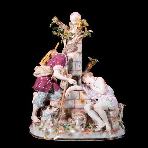 Meissen Figural Group.