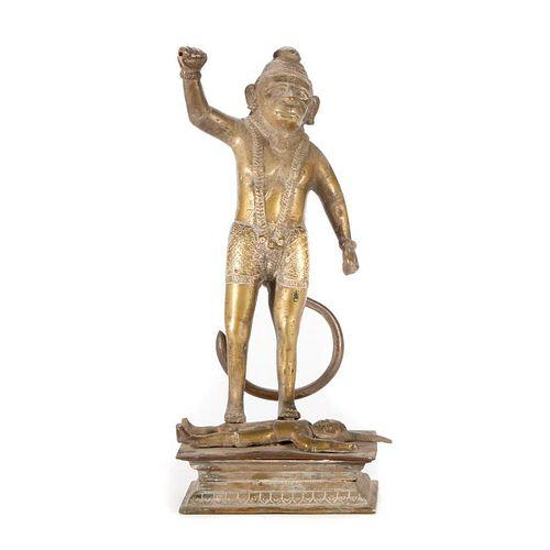 Bronze statue of Hanuman.