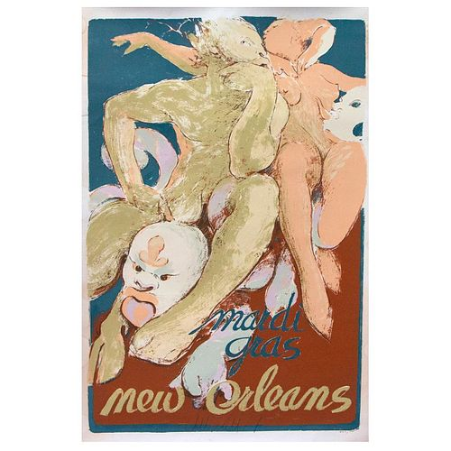 A New Orleans Mardi Gras poster.