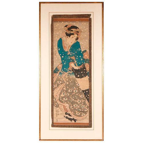 19th century Japanese woodblock print.