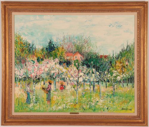 Yolande Ardissone - Harvesting Flowers in Field