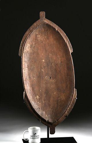 19th C. Vanuatu Shallow Wood Dish - Turtle Form