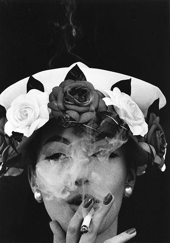 William Klein (1928)  - Hat + 5 Roses, Paris, 1956