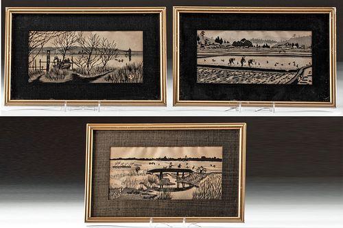 1950s Japanese Woodblock Prints by Okuyama (3)