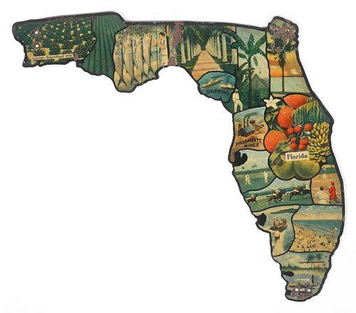 "1926 ""Tin"" Florida Map Souvenir"