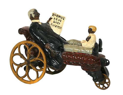 Baby Quieter Cast Iron Bell Toy, J&E Stevens
