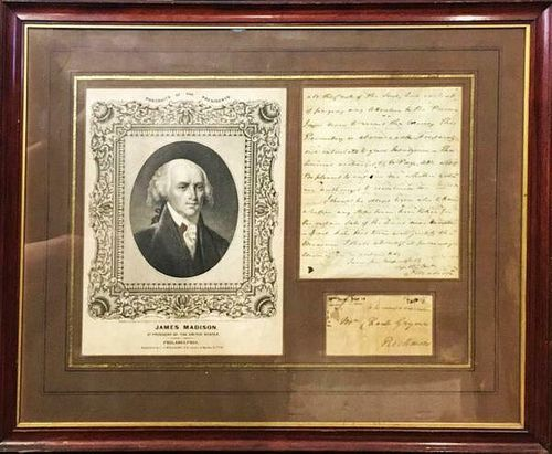 JAMES MADISION Handwritten Letter to Charles Grymes, 1793 w/ President Photo - $30KAppraisal Value!
