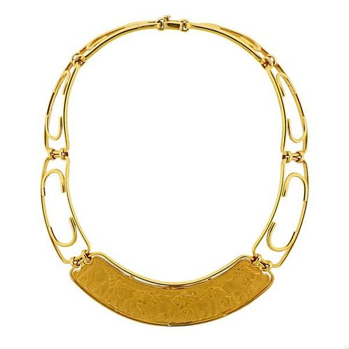 Carrera Y Carrera 18K Gold Elephant Necklace