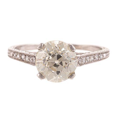 A 2.18ct Old European Cut Diamond Ring in Plat