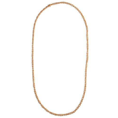 A Handmade Italian Byzantine Link Chain in 18K