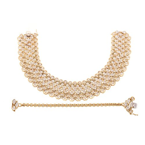 A 5.45 ctw Diamond Mesh Necklace in 18K