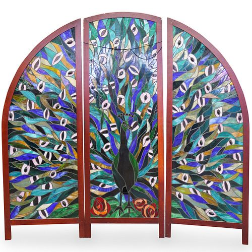 (3 Pc) Stained Glass Window