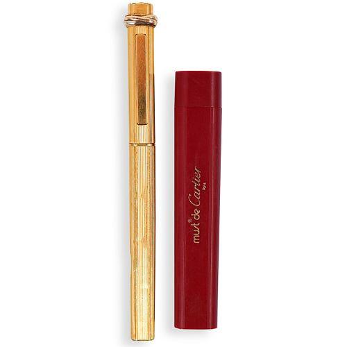 Cartier Gold Plated Vendome Pen