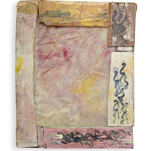 Purvis Young (1943-2010) Mixed Media
