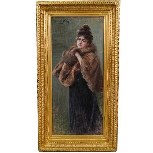 Frédérique Vallet-Bisson (French, 1862-1949) Pastel on Canvas