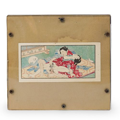 Erotic Japanese Woodcut Print