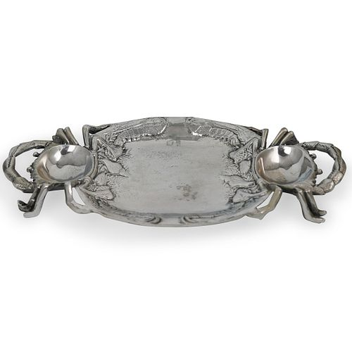 Pewter Figural Crab Tray