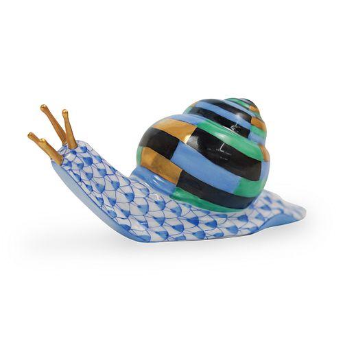 Herend Porcelain Fishnet Snail