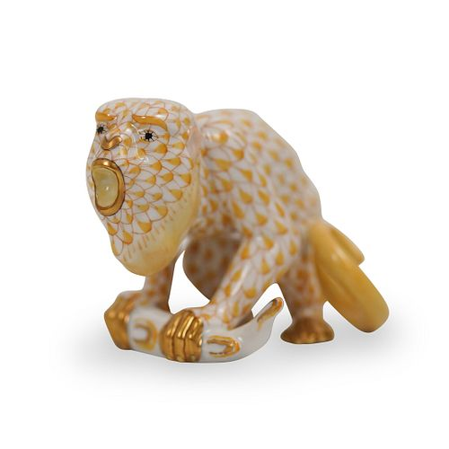 Herend Howler Monkey Fishnet PorcelainÂ