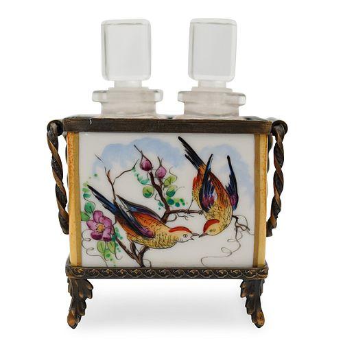 Limoges Porcelain Perfume Bottle Box