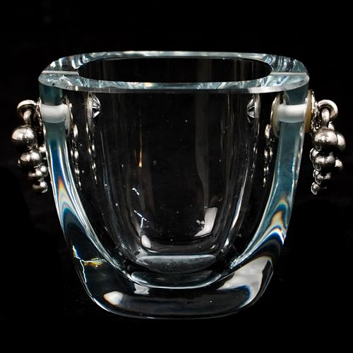 Scandinavian Crystal With Sterling Handles