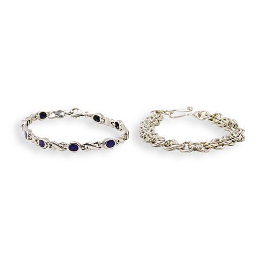 (2pc) Sterling Silver Bracelets