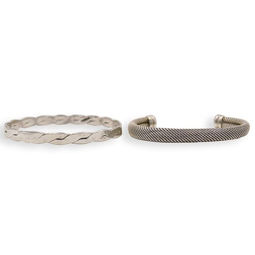 (2 Pc) Sterling Silver Cuffs