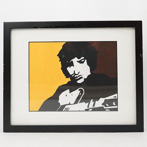 Acrylic Painting of Bob Dylan