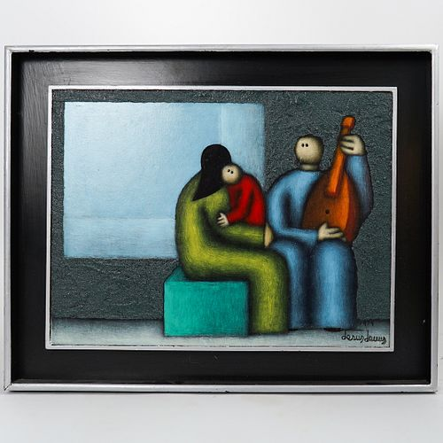 Jesus Lewis (Mexican, 20th Century) Oil on Board