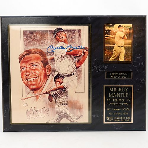 Limited Edition Mickey Mantle Plaque