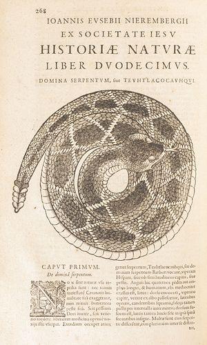 Nierembergii, Ioannis Evsebii. Historia Natvrae, Maxime Peregrinae, Libris XVI Distincta. Antverpiae: 1635. W/ engravings.