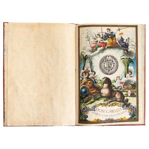 I, the King (Charles III). Title of Count of Valenciana, in favor of Don Antonio de Obregón y Alcocer... Pardo, March 20th, 1780